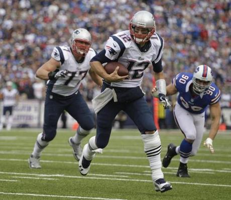 Tom Brady ran for a touchdown during the second half.